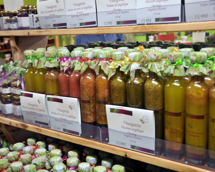 Food products at the Route des Gerbes d'Angelica